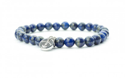 blau silber 416x260 - Steinperlen Armband LAZU blau
