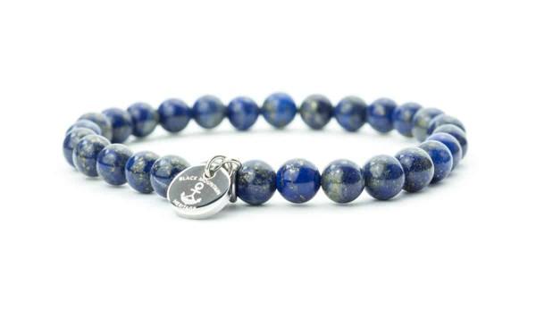 blau silber 600x375 - Steinperlen Armband LAZU blau
