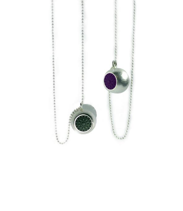 """dots halsschmuck silber halskette - Silber-Halskette """"dots"""" (Farbauswahl)"""