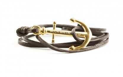 gold braun 416x260 - Anker Armband MAGELLAN Leder dunkelbraun