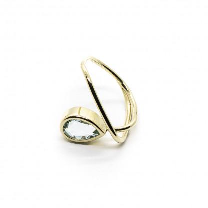 goldener ring mit aquamarin 416x416 - Courbe Goldring mit Aquamarin