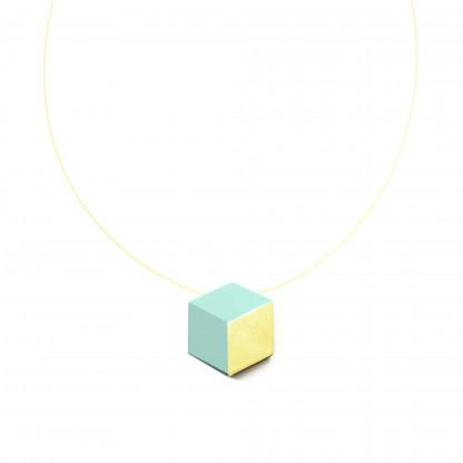 "halskette ambivalenz mint blattgold 186 416x416 - Kette ""Ambivalenz"" Mint-Gold"