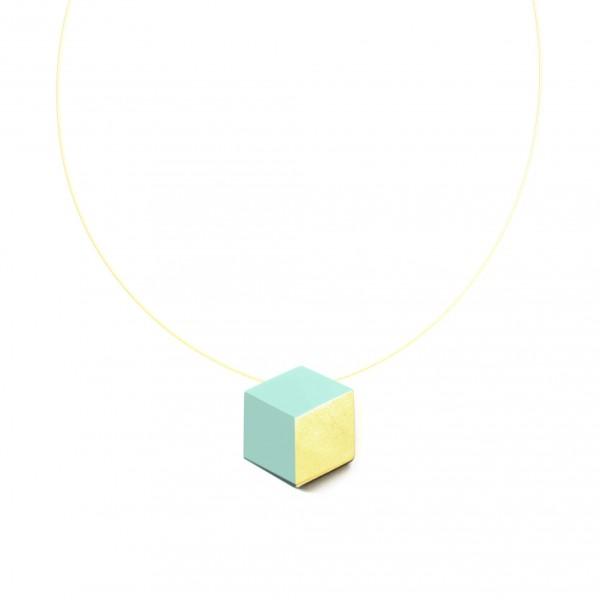 "halskette ambivalenz mint blattgold 186 600x600 - Kette ""Ambivalenz"" Mint-Gold"