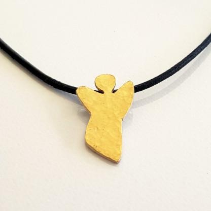 halskette für kinder mit engel gold 416x416 - Halskette mit Schutzengel in Gold