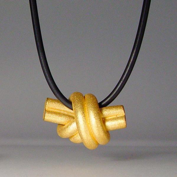 halskette knoten doppelrund gold 1 600x600 - KNOTEN doppelrund