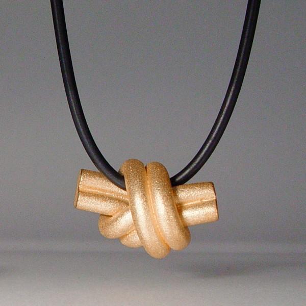 halskette knoten doppelrund rose gold 1 600x600 - KNOTEN doppelrund