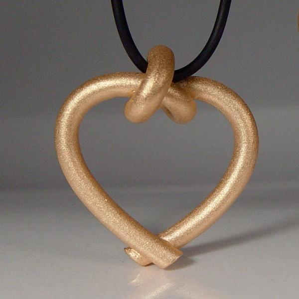 halskette knoten herzen rund gross rose gold 1 600x600 - GEBUNDENE HERZEN rund groß