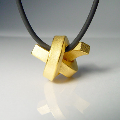 halskette knoten kantig gross gold 1 416x416 - KNOTEN kantig groß