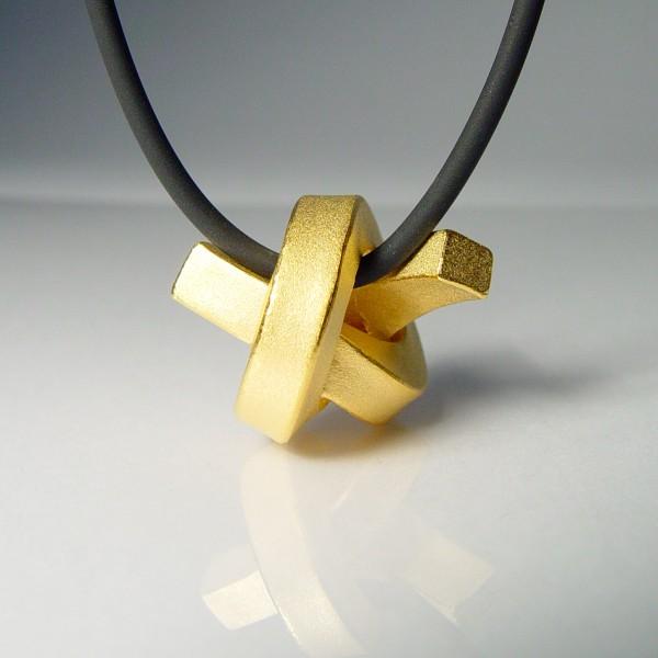 halskette knoten kantig gross gold 1 600x600 - KNOTEN kantig groß