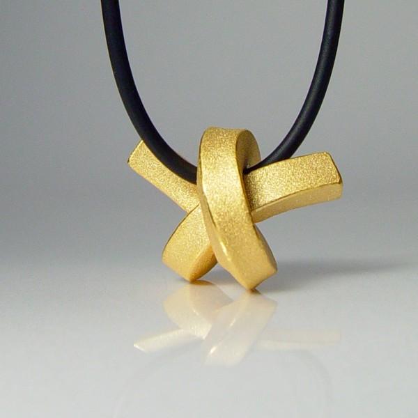 halskette knoten kantig kleingold 1 600x600 - KNOTEN kantig klein