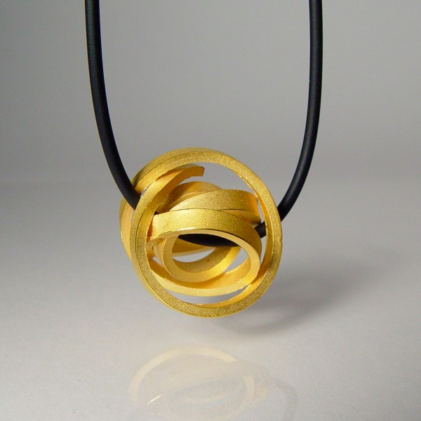 halskette knoten kugel kantig klein gold 3 600x600 - KUGELKNOTEN kantig klein