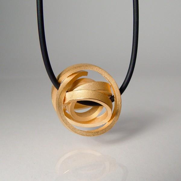 halskette knoten kugel kantig klein rose gold 2 600x600 - KUGELKNOTEN kantig klein