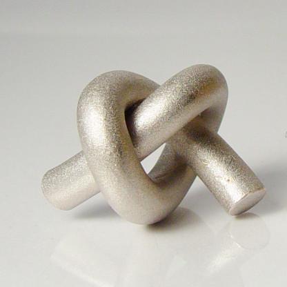halskette knoten rund gross silber rhodiniert 1 416x416 - KNOTEN rund groß