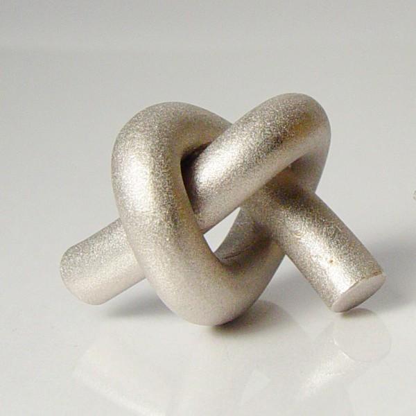 halskette knoten rund gross silber rhodiniert 1 600x600 - KNOTEN rund groß