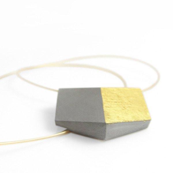 "kette ambivalenz grau gold 164 - Kette ""Ambivalenz"" Grau-Gold"