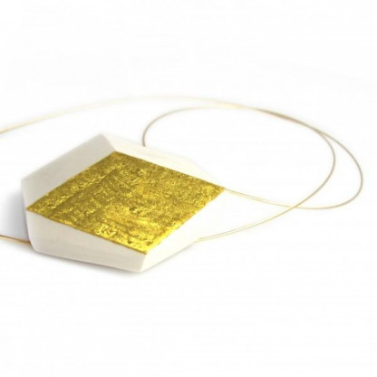 """kette ambivalenz weiss gold 75 416x416 - Kette """"Ambivalenz"""" Weiß-Gold"""