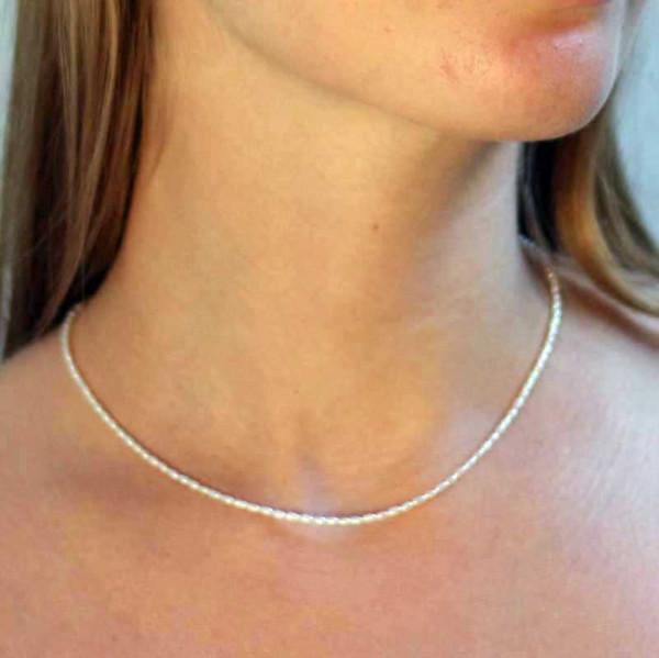 kreativer schmuck collier perle 1 600x599 - Collier Perle 42 oder 45cm