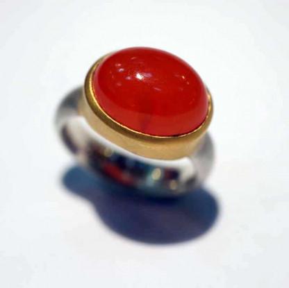 kreativer schmuck ring goldschmied r andi carneol oval 1 416x415 - Ring R Andi Carneol oval