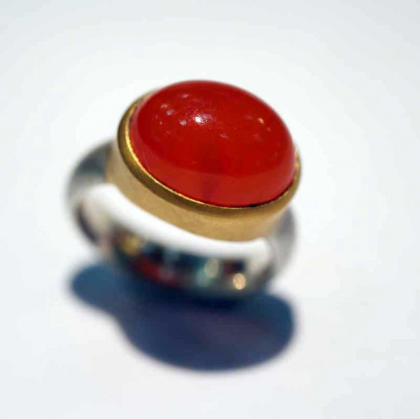 kreativer schmuck ring goldschmied r andi carneol oval 2 600x599 - Ring R Andi Carneol oval