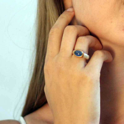 kreativer schmuck ring goldschmied r andi kyanit oval 1 416x415 - Ring R Andi Kyanit oval