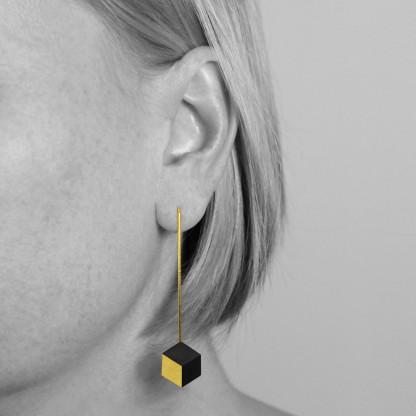 """ohrhaenger ambivalenz schwarz gold 9 416x416 - Ohrhänger """"Ambivalenz"""" Schwarz-Gold"""