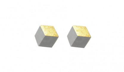 """ohrstecker ambivalenz grau gold s 214 416x243 - Ohrstecker """"Ambivalenz"""" Grau-Gold"""