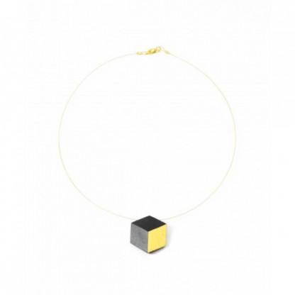 "ohrstecker ambivalenz schwarz gold 192 416x416 - Kette ""Ambivalenz"" Schwarz-Gold"