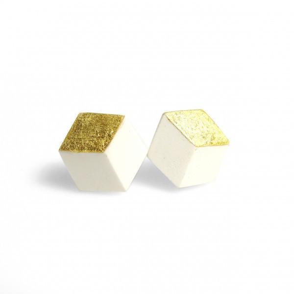 """ohrstecker ambivalenz weiss gold s 210 - Ohrstecker """"Ambivalenz"""" Weiß-Gold"""