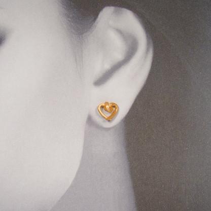 ohrstecker herzen kantig klein rose gold 4. 416x416 - OHRHERZEN kantig klein