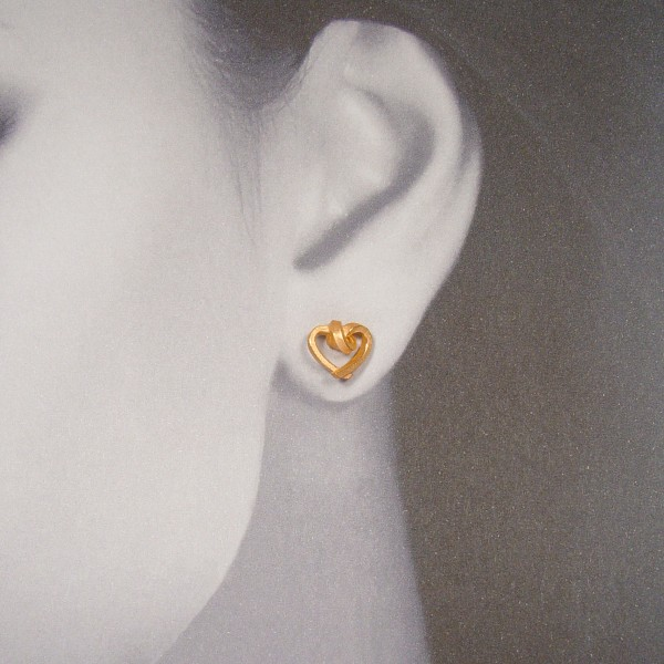 ohrstecker herzen kantig klein rose gold 4. 600x600 - OHRHERZEN kantig klein