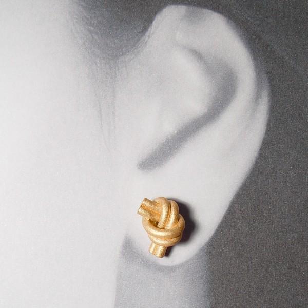 ohrstecker knoten doppelrund rose gold 2 600x600 - OHRKNOTEN doppelrund