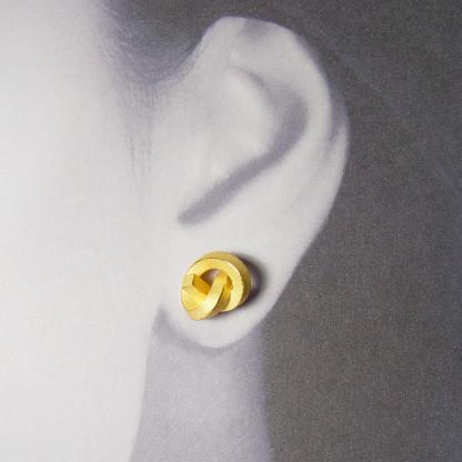 ohrstecker knoten kantig gross gold 2 416x416 - OHRKNOTEN kantig groß