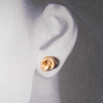 ohrstecker knoten kantig gross rose gold 2 416x416 - OHRKNOTEN kantig groß