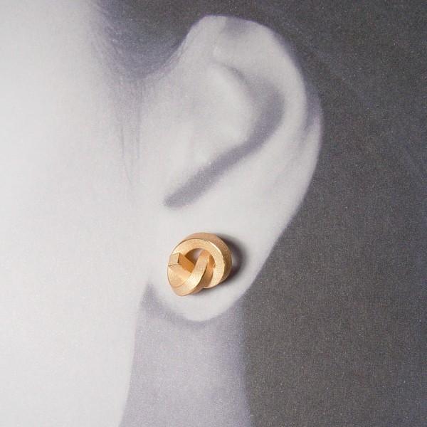 ohrstecker knoten kantig gross rose gold 2 600x600 - OHRKNOTEN kantig groß