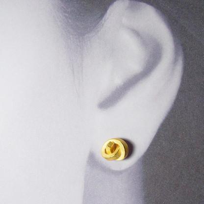 ohrstecker knoten kantig klein gold 2 416x416 - OHRKNOTEN kantig klein