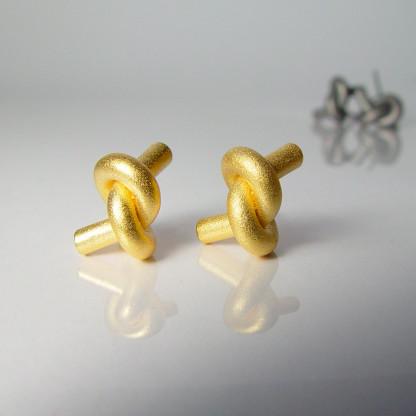 ohrstecker knoten rund gross gold 1 416x416 - OHRKNOTEN rund groß