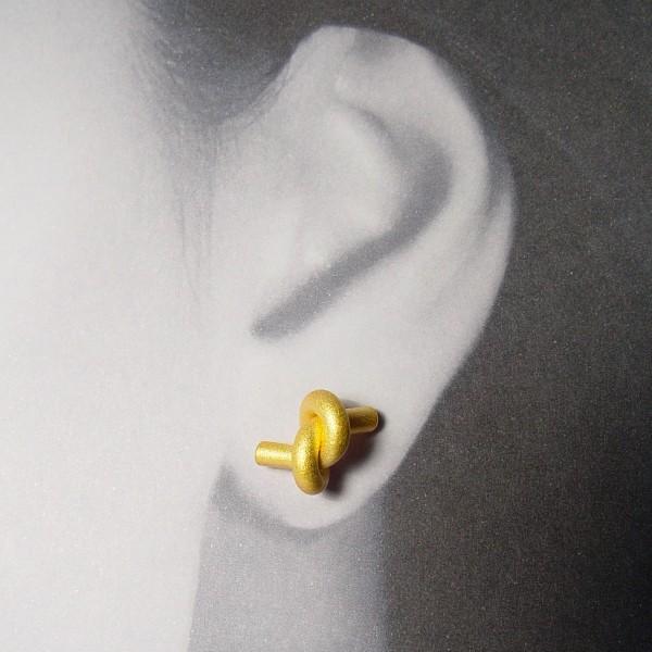 ohrstecker knoten rund gross gold 2 600x600 - OHRKNOTEN rund groß