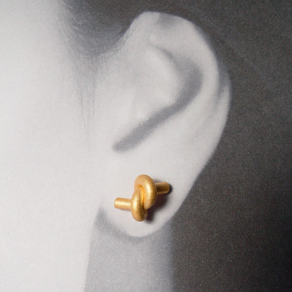ohrstecker knoten rund gross rose gold 2 416x416 - OHRKNOTEN rund groß