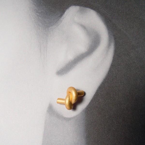 ohrstecker knoten rund gross rose gold 2 600x600 - OHRKNOTEN rund groß