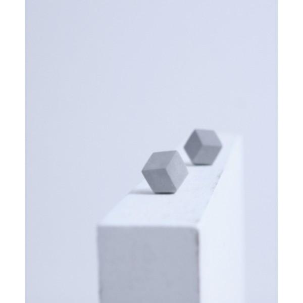 "ohrstecker purismus grau 95 - Ohrstecker ""Purismus"" Grau"