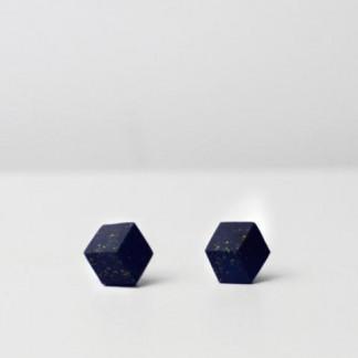 """ohrstecker purismus pastel blau s 202 324x324 - Ohrstecker """"Galaxie"""" Dunkelblau"""