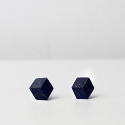 """ohrstecker purismus pastel blau s 202 416x416 - Ohrstecker """"Galaxie"""" Dunkelblau"""