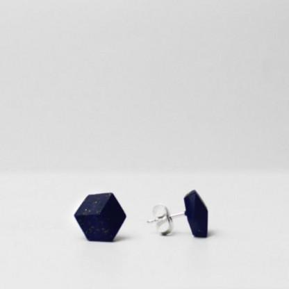"""ohrstecker purismus pastel blau s 203 416x416 - Ohrstecker """"Galaxie"""" Dunkelblau"""