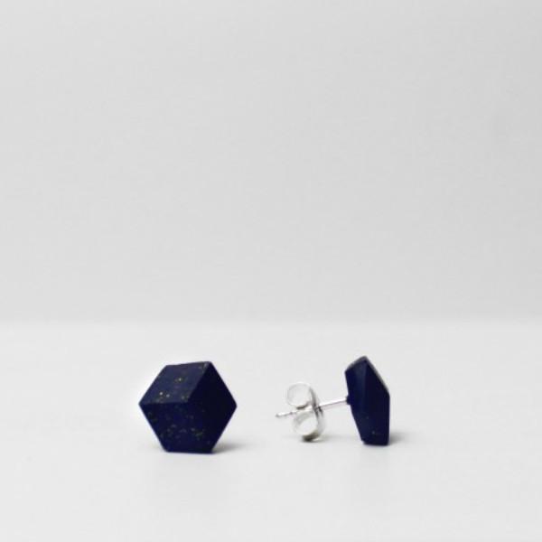 """ohrstecker purismus pastel blau s 203 - Ohrstecker """"Galaxie"""" Dunkelblau"""