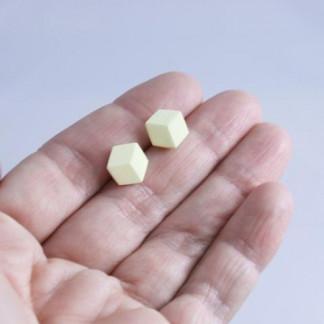 """ohrstecker purismus pastel gelb s 194 324x324 - Ohrstecker """"Purismus"""" Pastelgelb"""