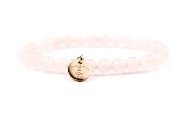perlenarmbaender armband rose rosegold 600x375 - Steinperlen Armband ROSE rosé