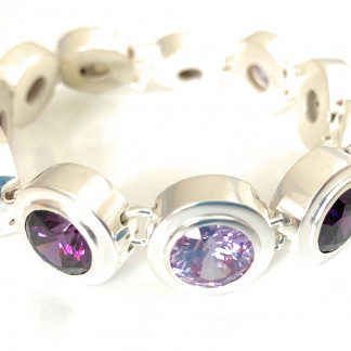 schmuck kaufen Armband Monaco 1001 152 lavendel Amethyst stehend 324x324 - Armband Monaco mit Amethysten