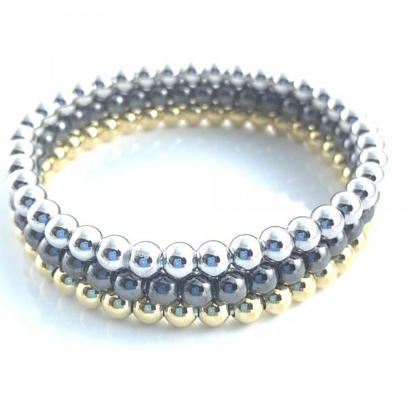 schmuck kaufen Armband Spheres 1001 312 drei Farben gestapelt vom schmuckdesigner 600x600 - Armband Spheres