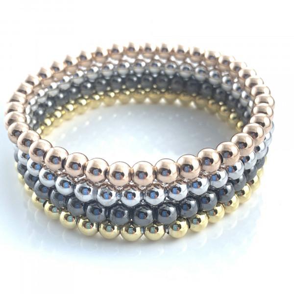 schmuck kaufen Armband Spheres 1001 312 vier Farben gestapelt vom schmuckdesigner 600x600 - Armband Spheres