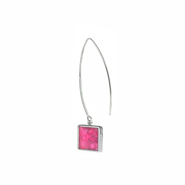 schmuck kaufen ohrhaenger alas twin quadrat m pink 600x600 - Ohrhänger Alas mit Twin M quadratisch (Farbauswahl)
